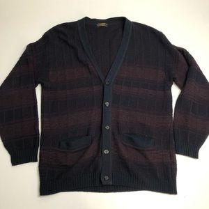 Vintage Cooper Acrylic Wool Cardigans Men's XL Sweater
